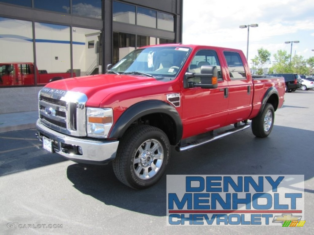 2008 bright red ford f350 super duty lariat crew cab 4x4 52454057 photo 41 gtcarlot com