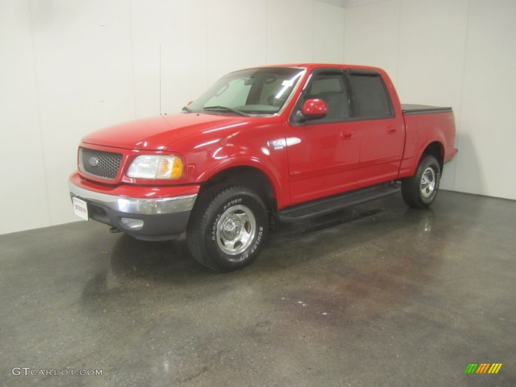 2002 bright red ford f150 xlt supercrew 4x4 52453823. Black Bedroom Furniture Sets. Home Design Ideas