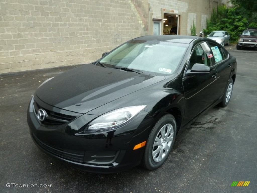 ebony black 2012 mazda mazda6 i sport sedan exterior photo. Black Bedroom Furniture Sets. Home Design Ideas