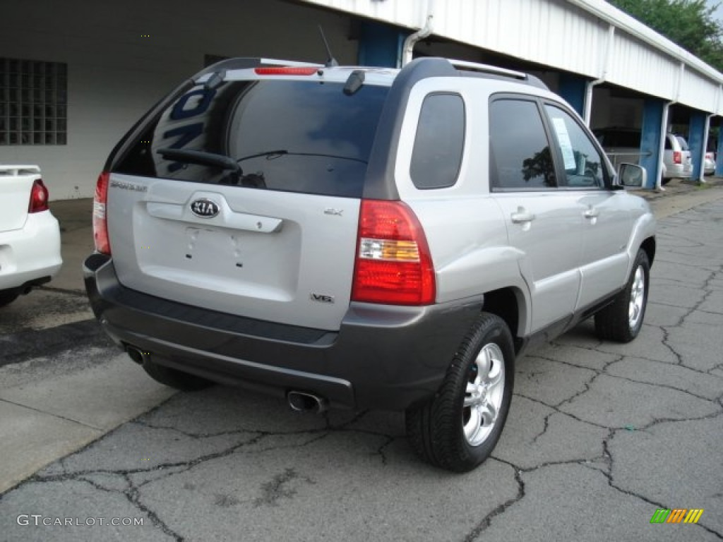 satin silver 2005 kia sportage ex 4wd exterior photo. Black Bedroom Furniture Sets. Home Design Ideas