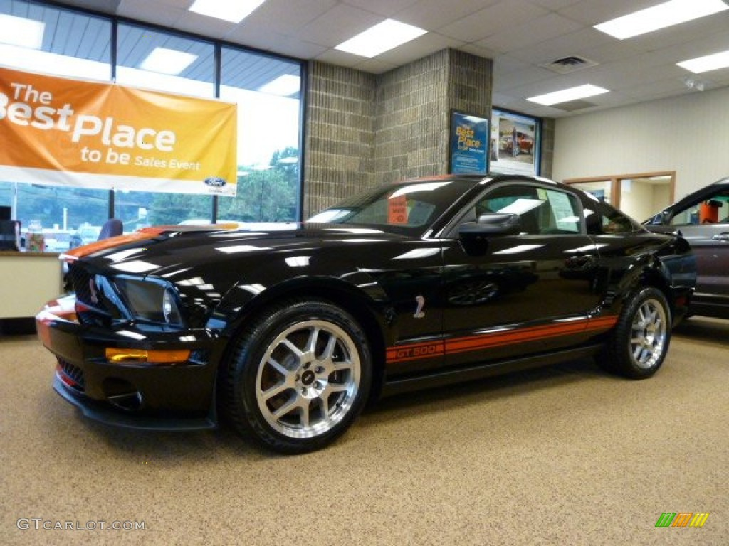 2007 Mustang Shelby GT500 Coupe - Black / Black/Red photo #1