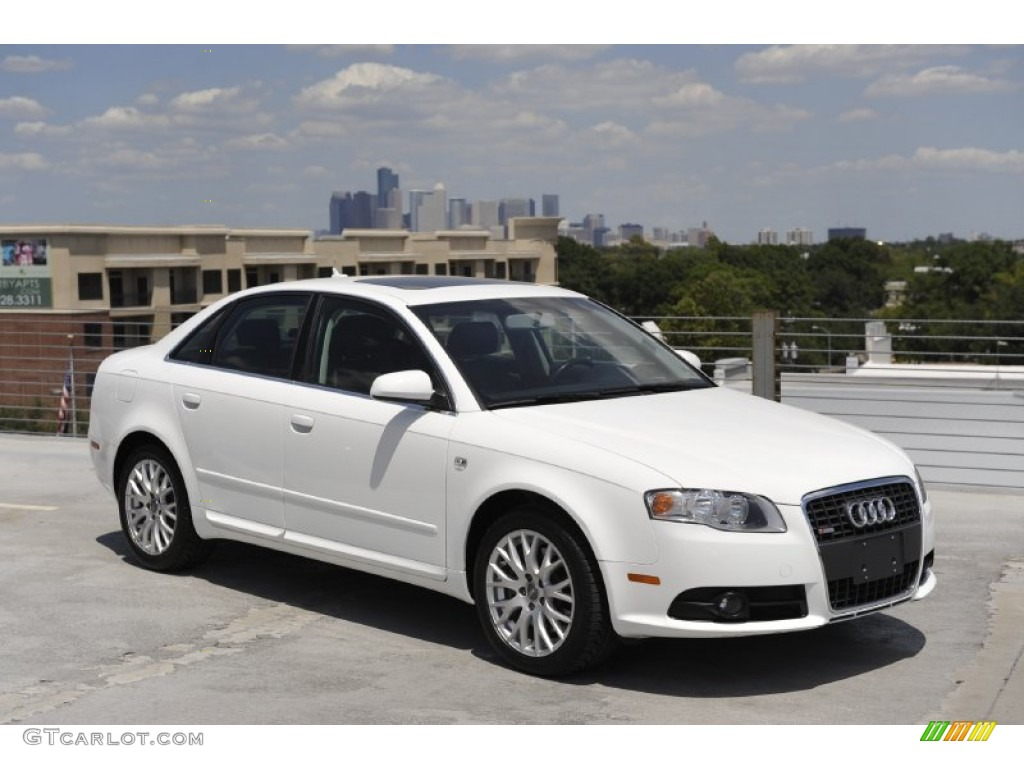 2008 ibis white audi a4 2 0t s line sedan 52547986 car color galleries. Black Bedroom Furniture Sets. Home Design Ideas