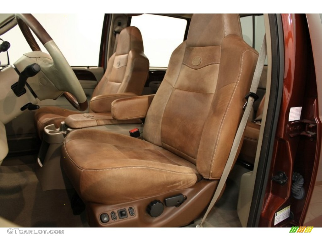 Castano Brown Leather Interior 2005 Ford F250 Super Duty