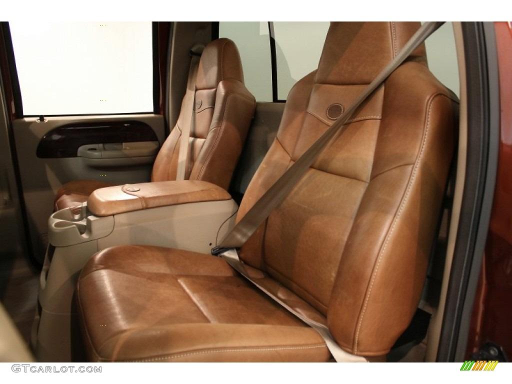 Castano brown leather interior 2005 ford f250 super duty king ranch fx4 crew cab 4x4 photo