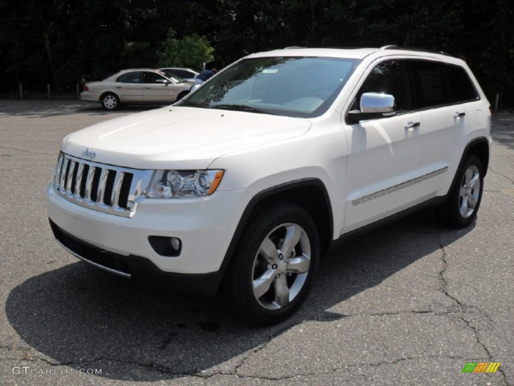Grand Cherokee Overland >> 2011 Stone White Jeep Grand Cherokee Overland 4x4 #52547816 | GTCarLot.com - Car Color Galleries