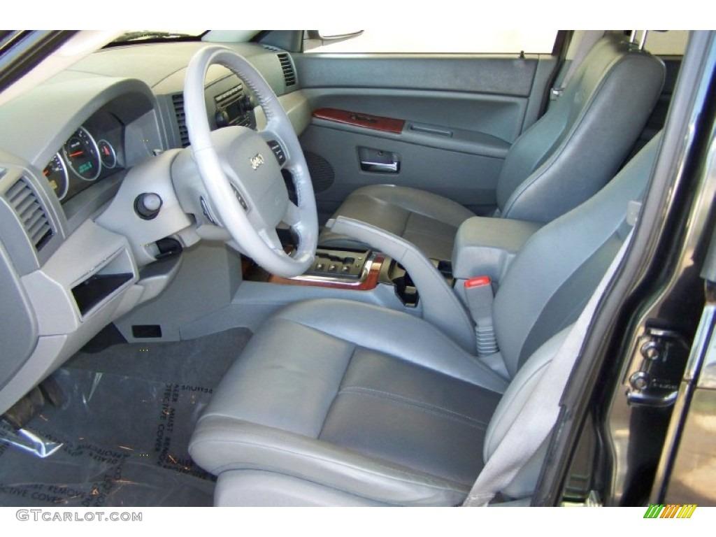 Medium Slate Gray Interior 2005 Jeep Grand Cherokee Limited Photo 52615094