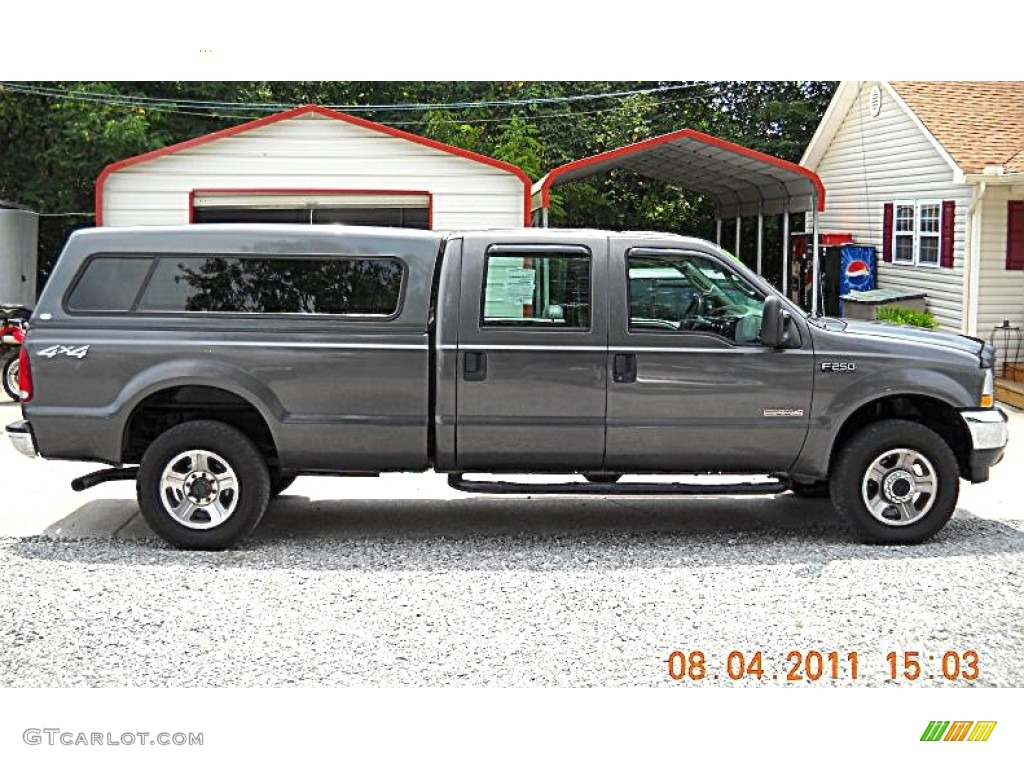 2004 F250 Super Duty XL Crew Cab 4x4 - Dark Shadow Grey Metallic / Medium Flint photo #1