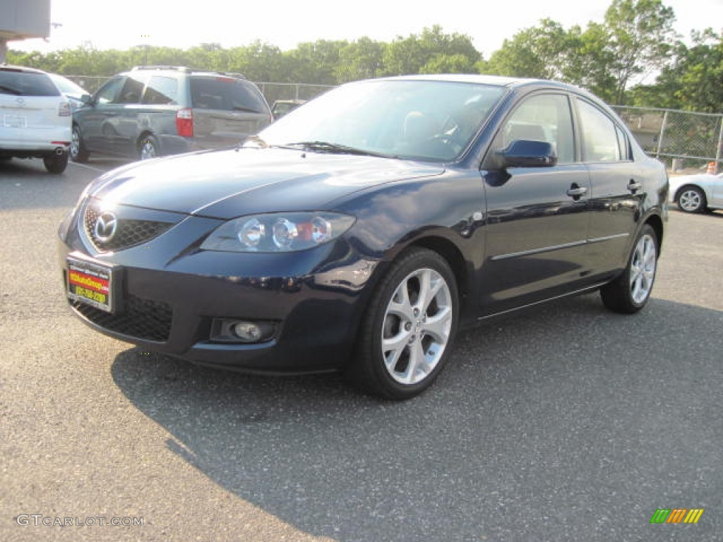 2008 stormy blue mica mazda mazda3 i touring sedan 52598940 car color galleries. Black Bedroom Furniture Sets. Home Design Ideas