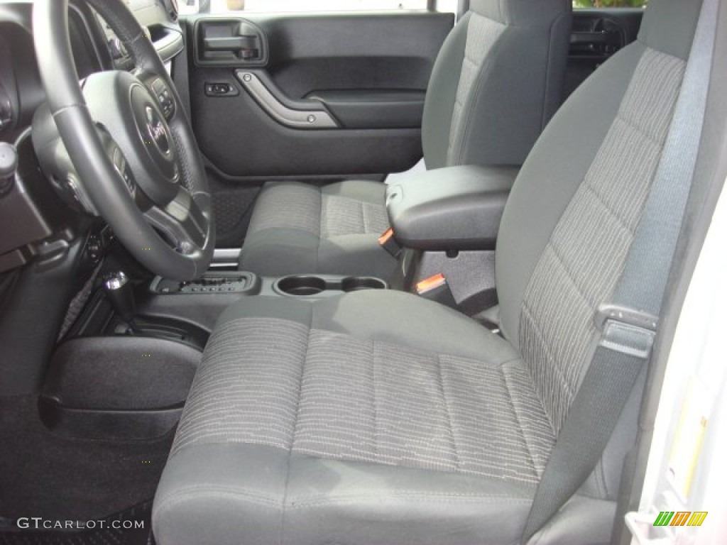Black Interior 2011 Jeep Wrangler Unlimited Sport 4x4 Photo 52663609
