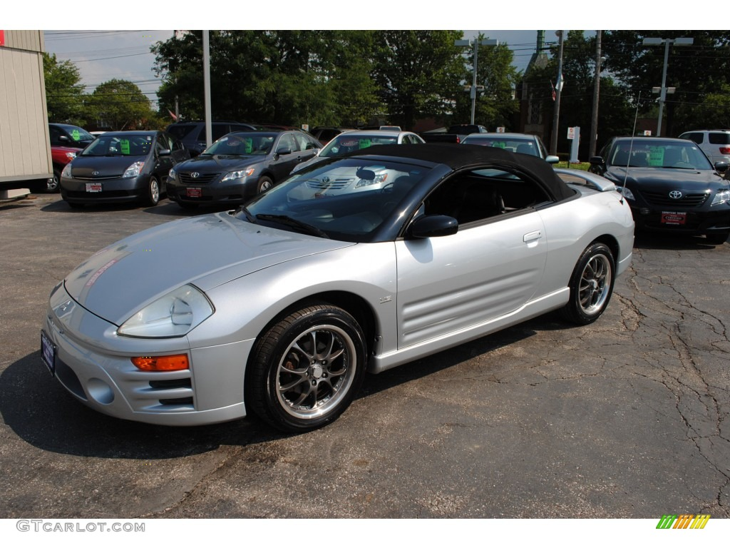 sterling silver metallic 2003 mitsubishi eclipse spyder gts exterior
