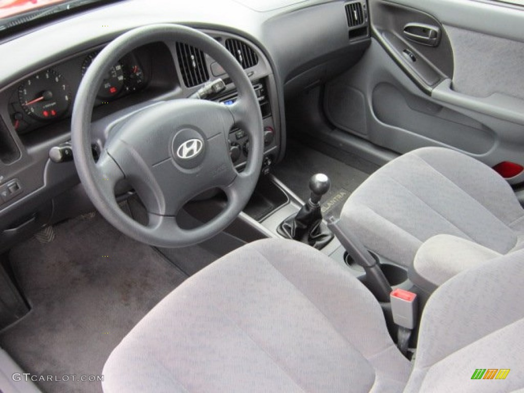 Gray Interior 2005 Hyundai Elantra Gls Sedan Photo