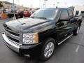 2011 Black Chevrolet Silverado 1500 LT Extended Cab 4x4  photo #3
