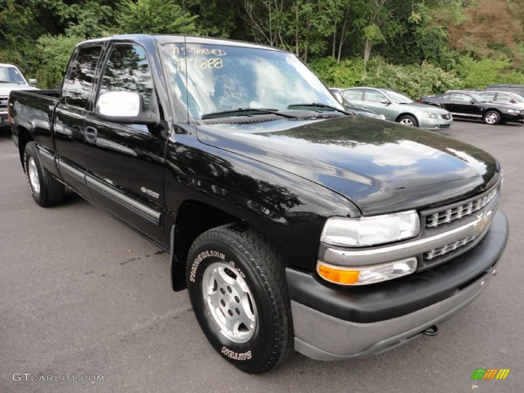 2000 Silverado 1500 Z71 Extended Cab 4x4 - Onyx Black / Graphite photo #1