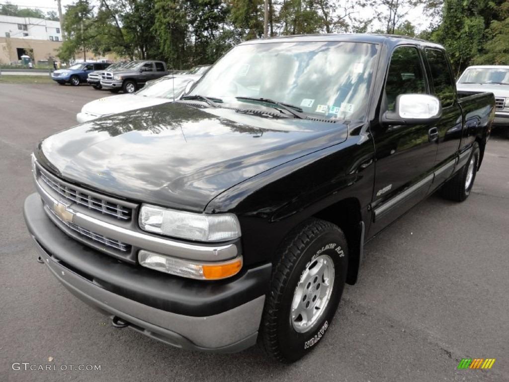 2000 Silverado 1500 Z71 Extended Cab 4x4 - Onyx Black / Graphite photo #3