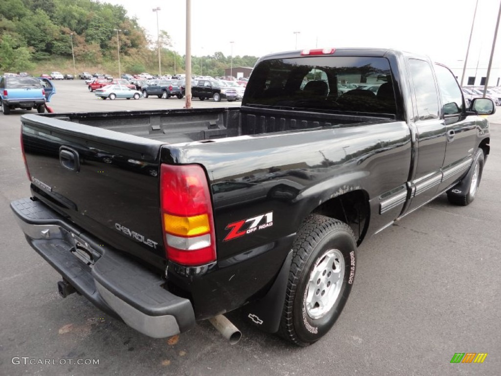 2000 Silverado 1500 Z71 Extended Cab 4x4 - Onyx Black / Graphite photo #6