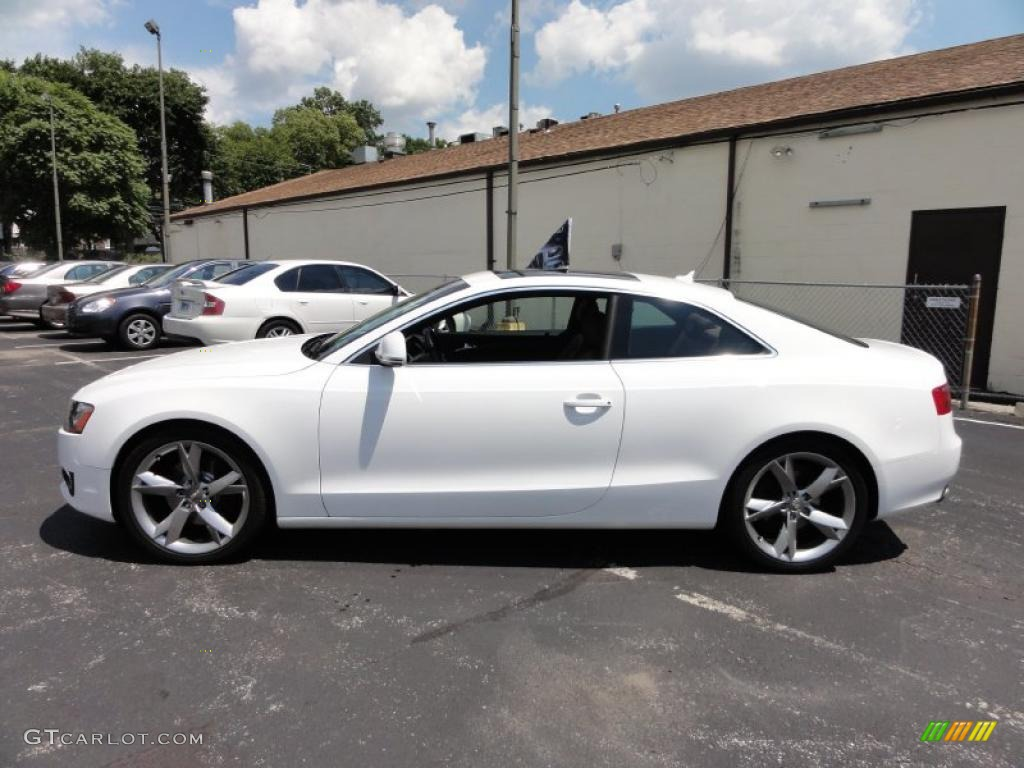 ibis white 2009 audi a5 3 2 quattro coupe exterior photo. Black Bedroom Furniture Sets. Home Design Ideas