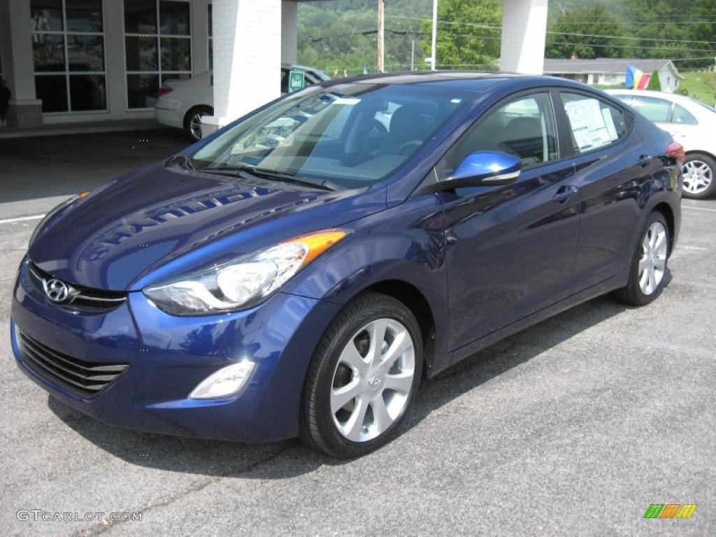 Indigo Night Blue 2012 Hyundai Elantra Limited Exterior