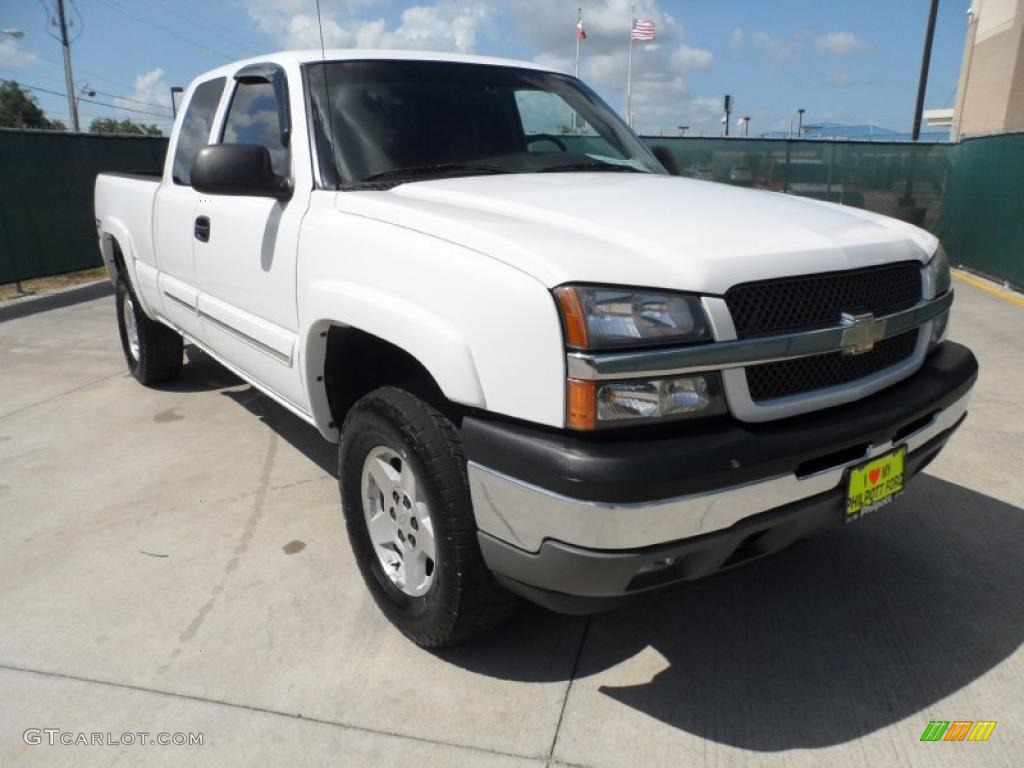 2005 summit white chevrolet silverado 1500 z71 extended cab 4x4 52724838 car. Black Bedroom Furniture Sets. Home Design Ideas