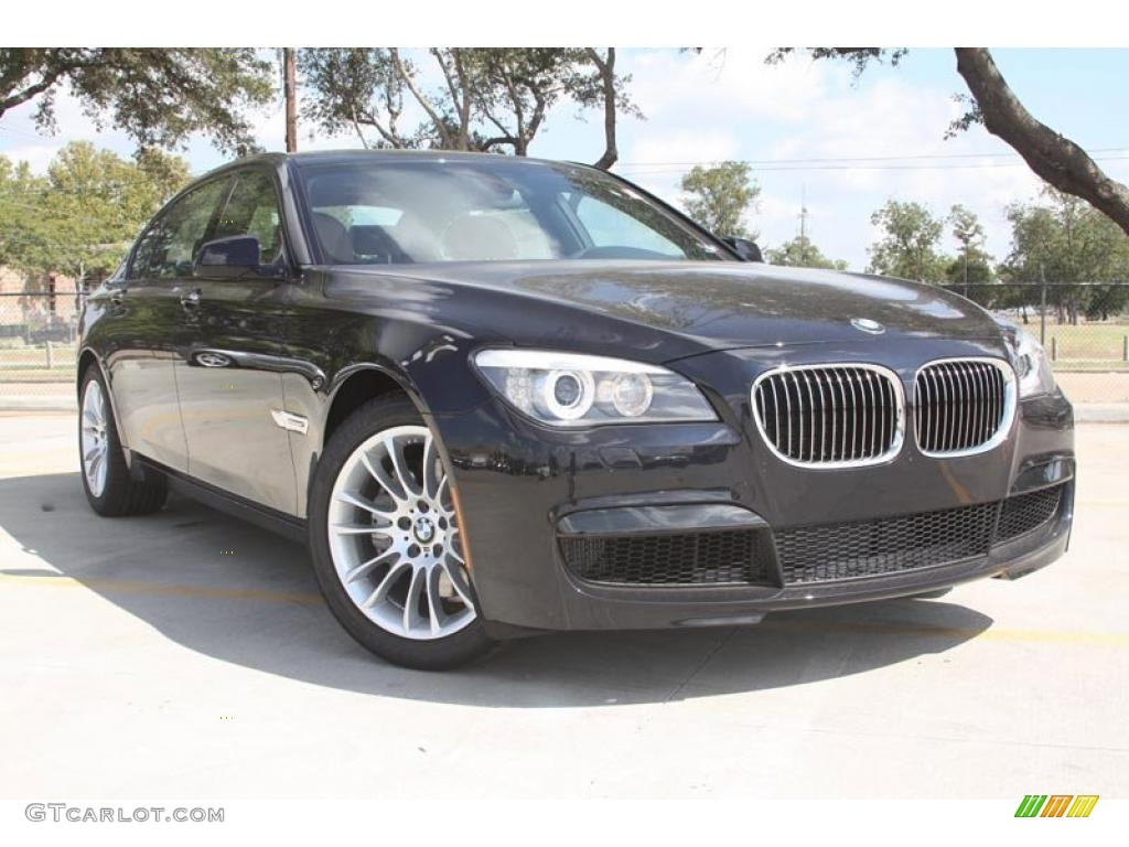 2012 carbon black metallic bmw 7 series 740li sedan. Black Bedroom Furniture Sets. Home Design Ideas