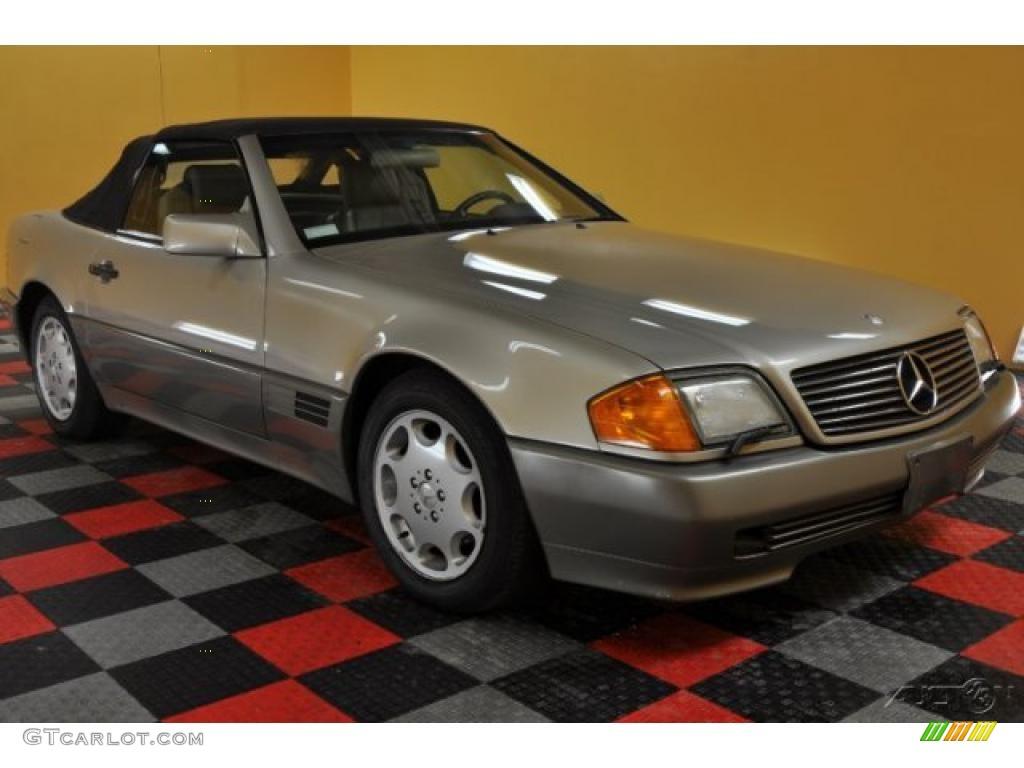 1993 smoke silver metallic mercedes benz sl 500 roadster for Silver mercedes benz
