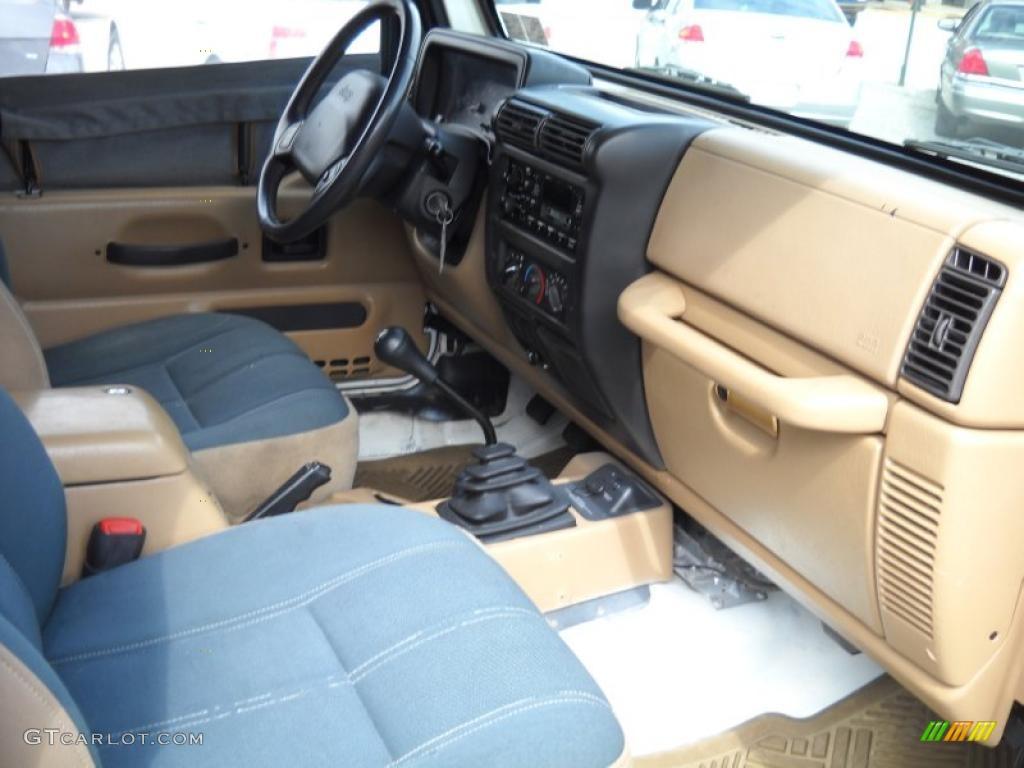 Camel/Dark Green Interior 2000 Jeep Wrangler Sahara 4x4 Photo #52796984 Idea