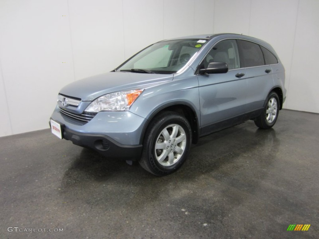 2009 CR-V EX 4WD - Glacier Blue Metallic / Gray photo #1