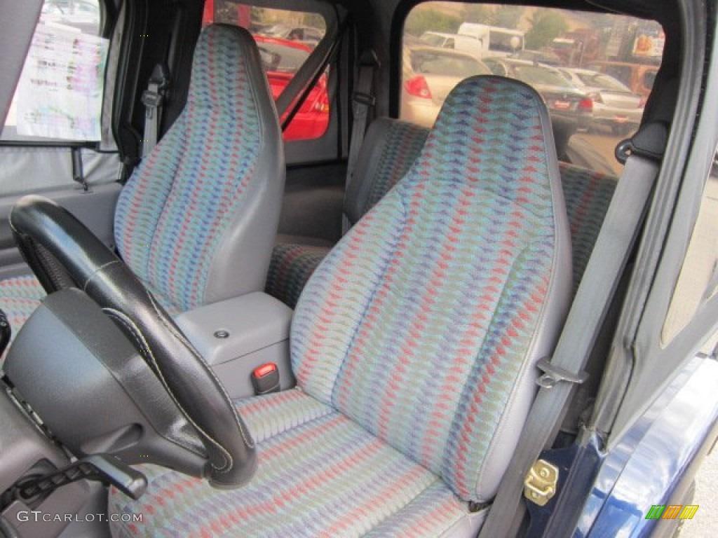 Gray Interior 1997 Jeep Wrangler Se 4x4 Photo 52825277