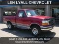 Electric Currant Red Pearl 1995 Ford F150 XLT Regular Cab 4x4