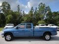 2002 Atlantic Blue Pearl Dodge Ram 1500 SLT Quad Cab 4x4  photo #2