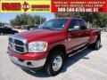 2007 Inferno Red Crystal Pearl Dodge Ram 3500 ST Quad Cab 4x4 Dually  photo #1
