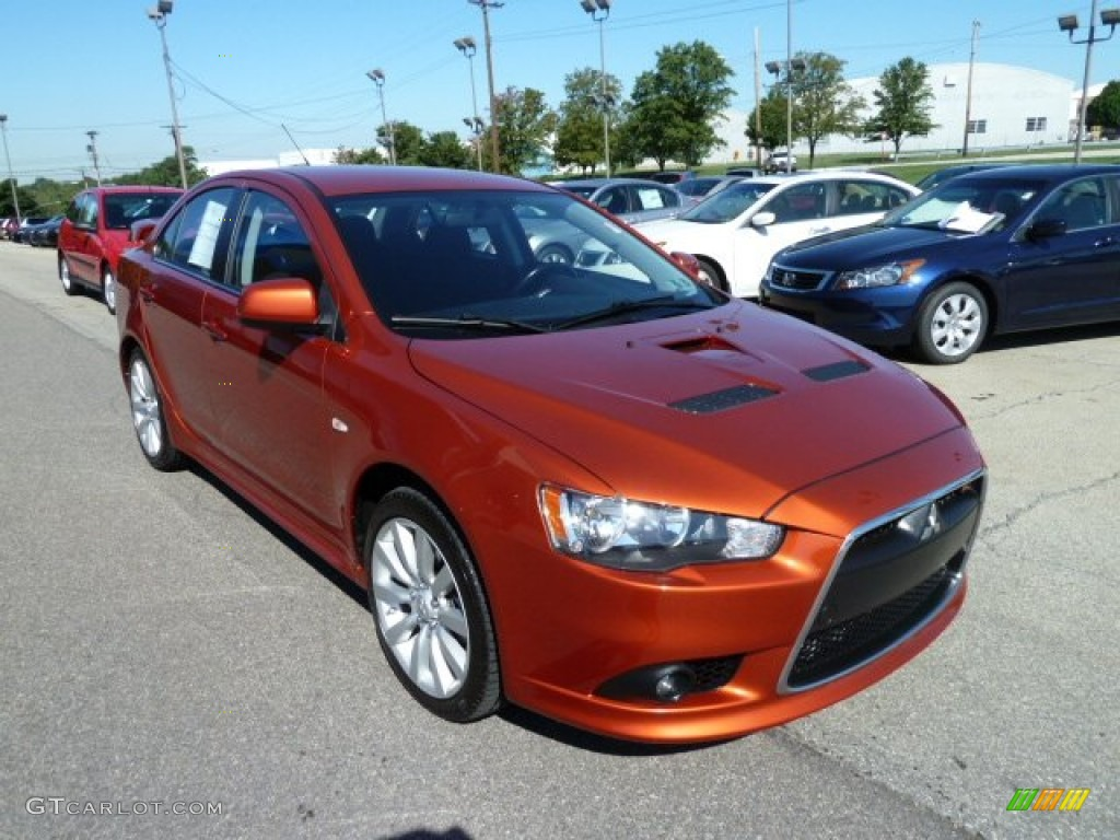 Rotor Glow Orange Metallic 2009 Mitsubishi Lancer Ralliart