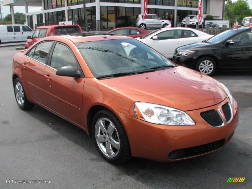 2006 fusion orange metallic pontiac g6 gt sedan 52818219. Black Bedroom Furniture Sets. Home Design Ideas