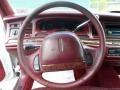 1995 Lincoln Town Car Dark Red Interior Steering Wheel Photo