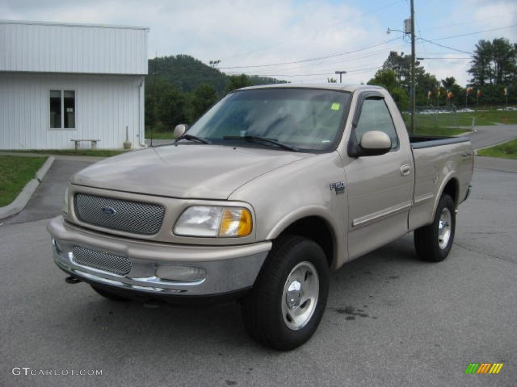 Prairie Tan Metallic 1998 Ford F150 Xlt Regular Cab 4x4 Exterior Photo 52928850 Gtcarlot Com