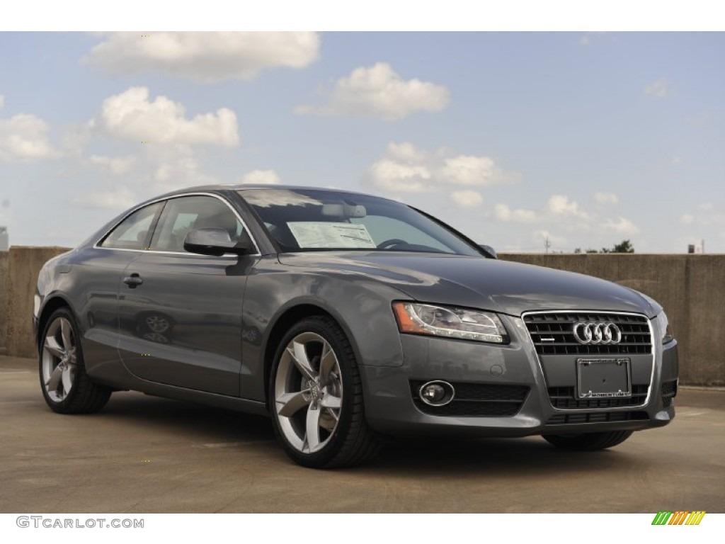 2012 Audi A5 2.0T quattro Coupe - Monsoon Gray Metallic Color / Black