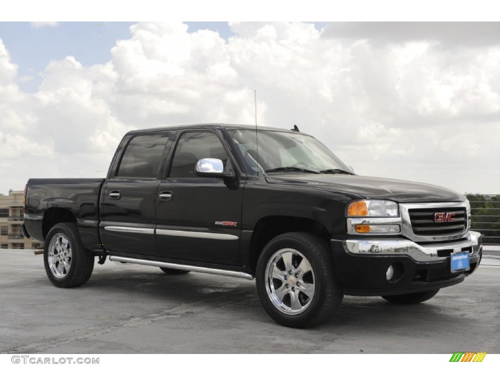 2006 onyx black gmc sierra 1500 slt crew cab 52818399 car color galleries. Black Bedroom Furniture Sets. Home Design Ideas