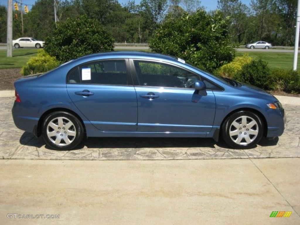 Atomic Blue Metallic 2011 Honda Civic Lx Sedan Exterior