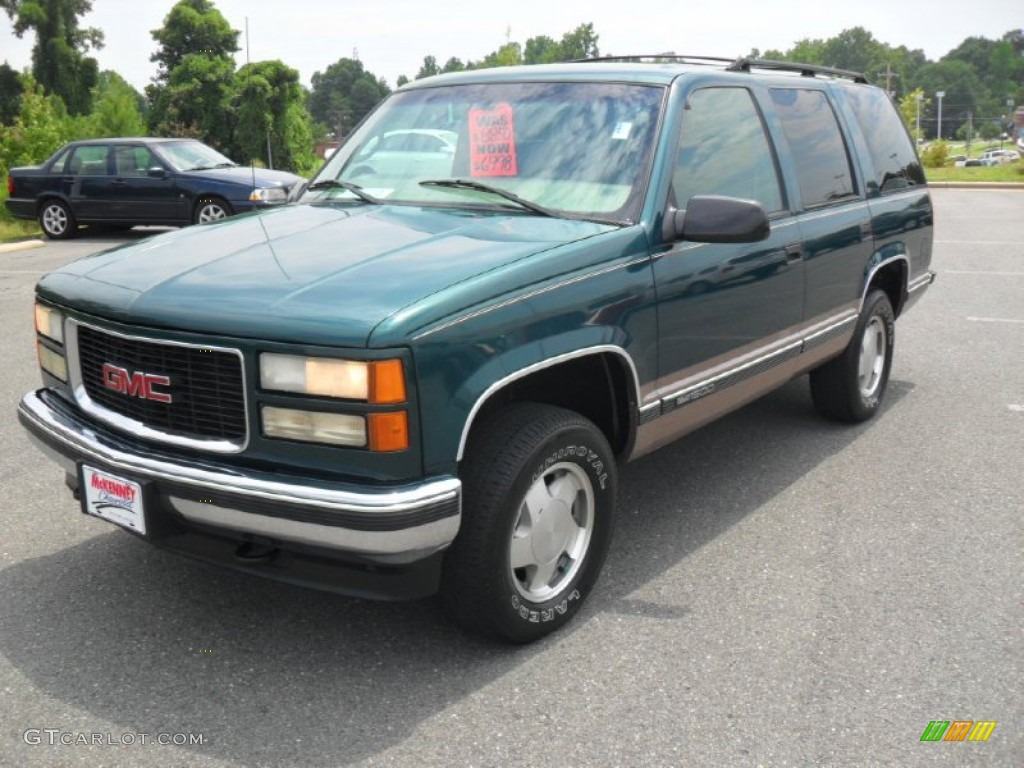 1998 emerald green metallic gmc yukon slt 4x4 52817942 gtcarlot com car color galleries gtcarlot com