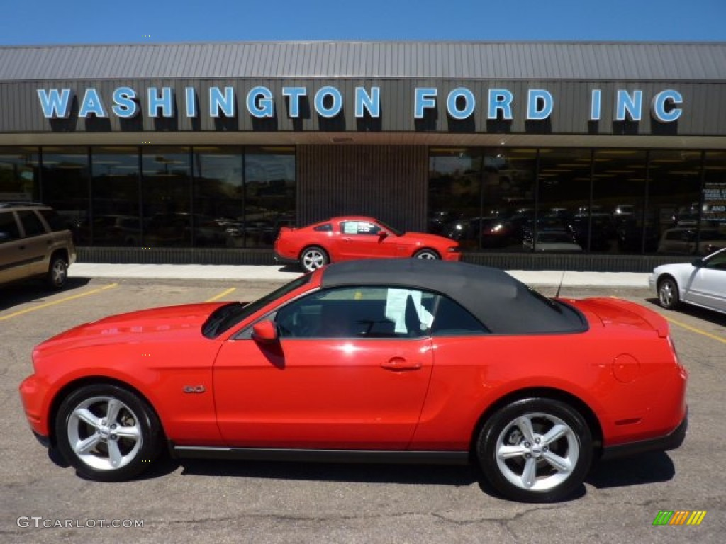 2011 Mustang GT Convertible - Race Red / Charcoal Black photo #1