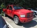 2002 Flame Red Dodge Ram 1500 Sport Quad Cab 4x4  photo #1