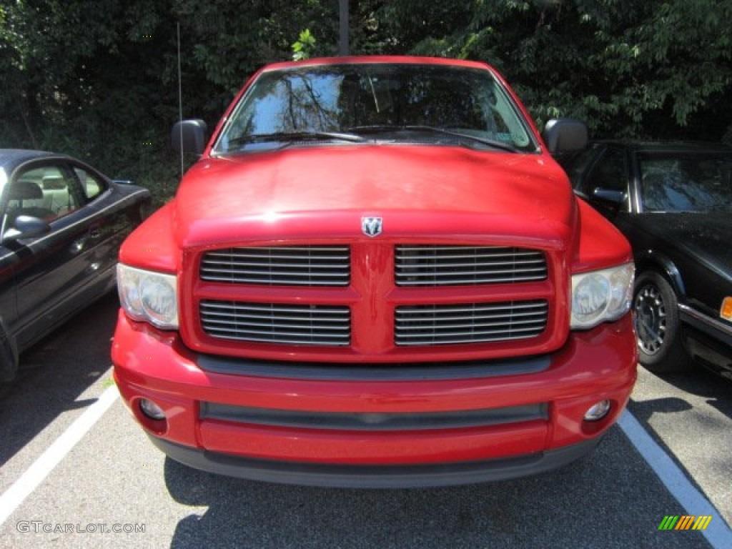 2002 Ram 1500 Sport Quad Cab 4x4 - Flame Red / Dark Slate Gray photo #2
