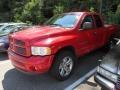2002 Flame Red Dodge Ram 1500 Sport Quad Cab 4x4  photo #3