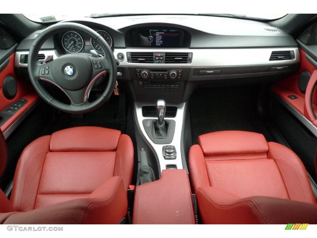 2010 Bmw 3 Series 335i Convertible Coral Red Black Dakota Leather Dashboard Photo 52984615