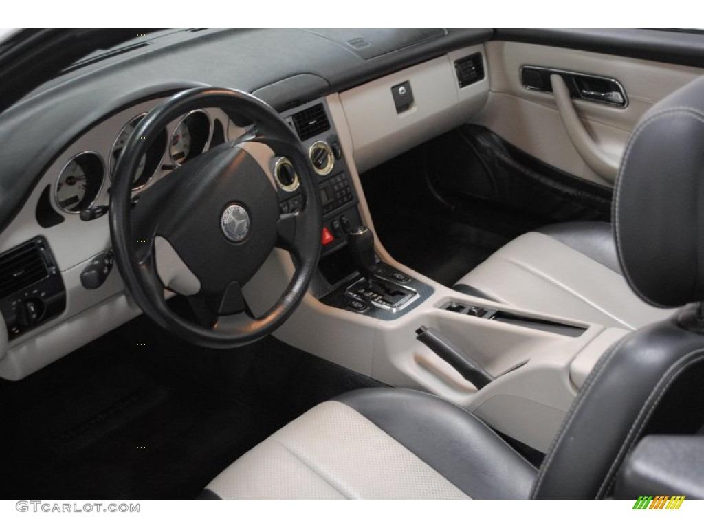 oyster charcoal interior 2000 mercedes benz slk 230 kompressor roadster photo 52997032. Black Bedroom Furniture Sets. Home Design Ideas