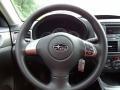 2011 Subaru Impreza Carbon Black Interior Steering Wheel Photo