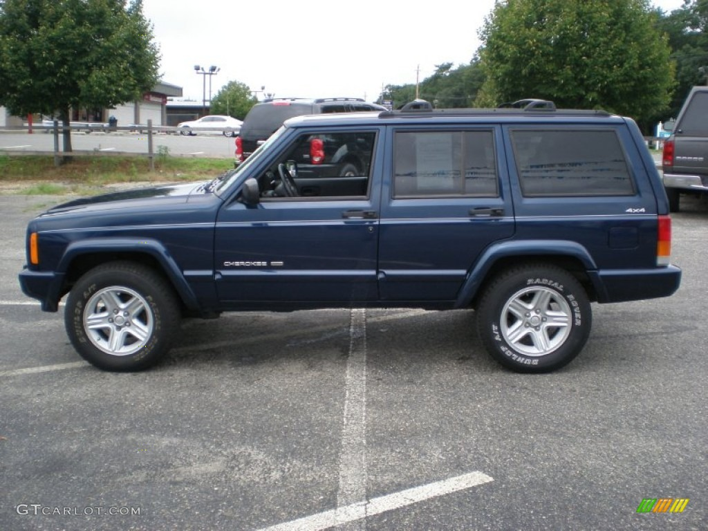patriot blue pearl 2000 jeep cherokee limited 4x4 exterior. Black Bedroom Furniture Sets. Home Design Ideas