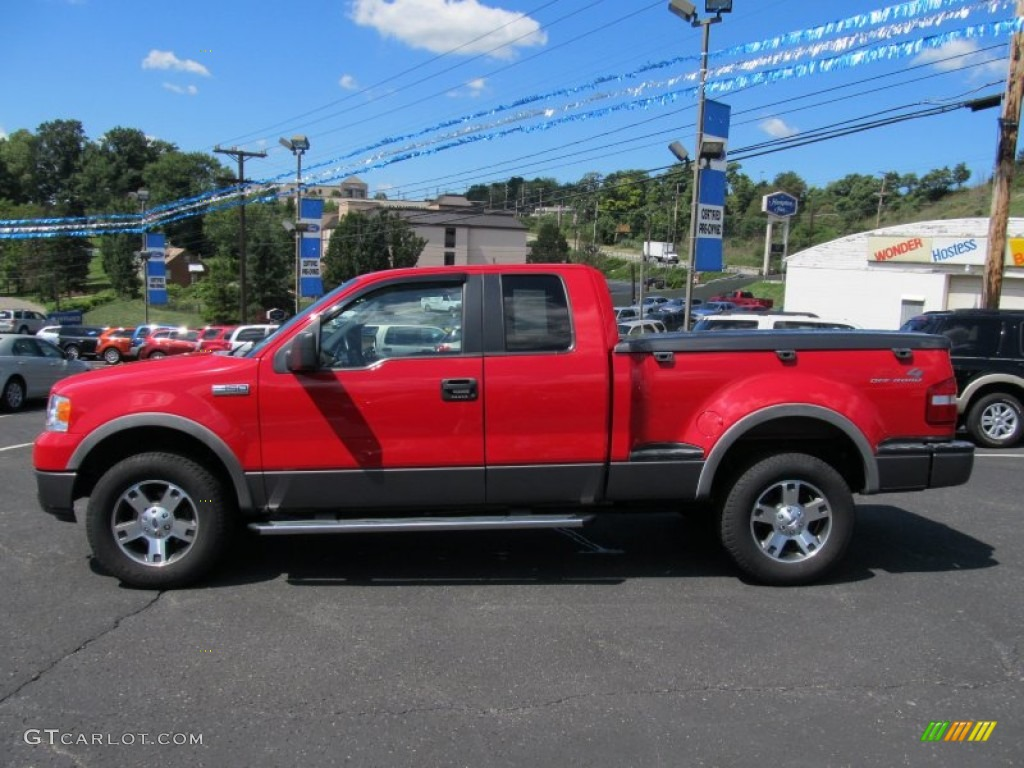 bright red 2005 ford f150 xlt supercab 4x4 exterior photo 53015486. Black Bedroom Furniture Sets. Home Design Ideas