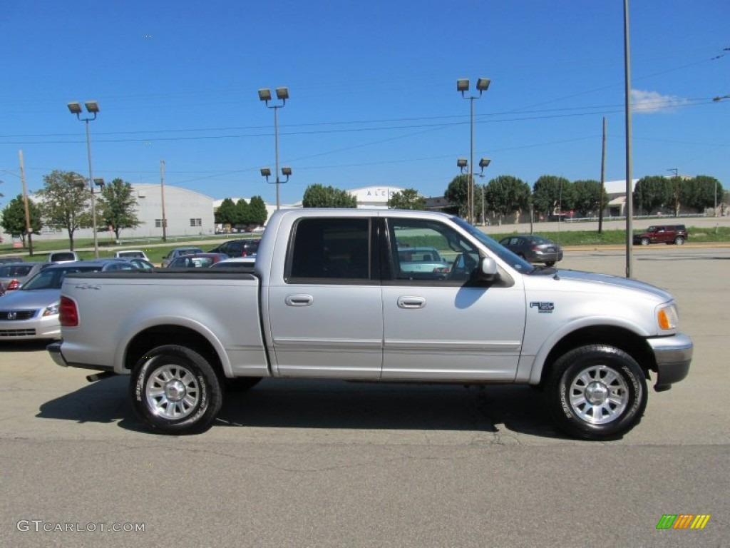 silver metallic 2001 ford f150 xlt supercrew 4x4 exterior photo. Cars Review. Best American Auto & Cars Review