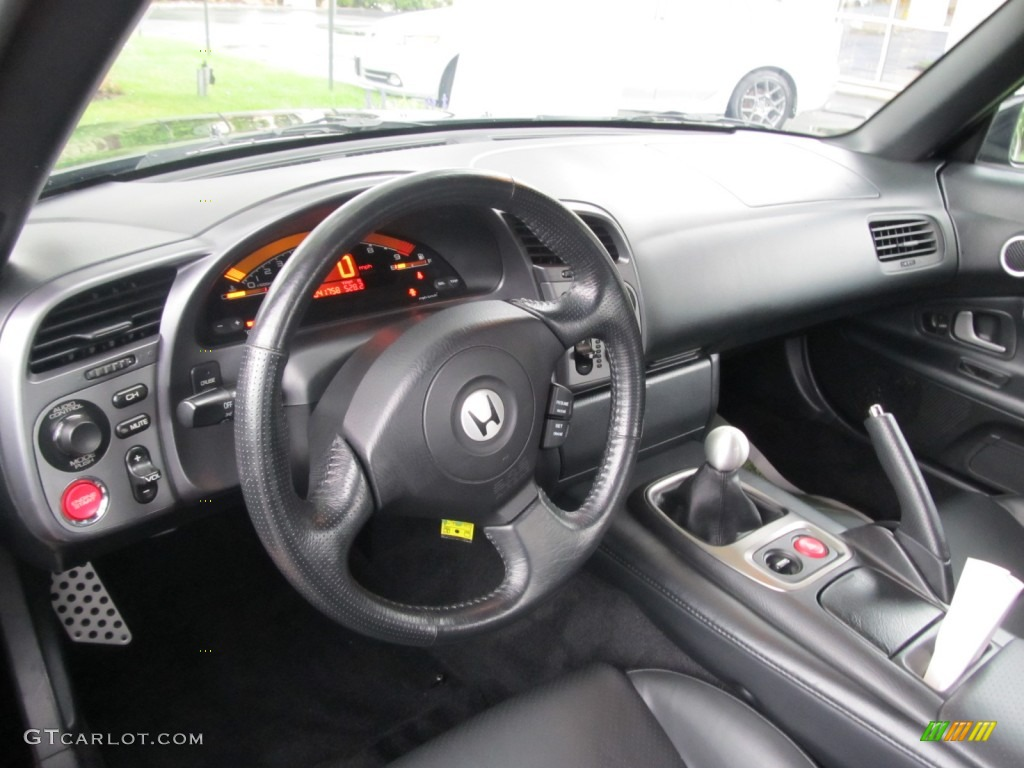 Black Interior 2003 Honda S2000 Roadster Photo #53029841 | GTCarLot.com