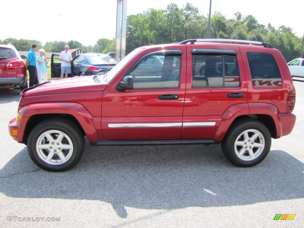 inferno red crystal pearl 2005 jeep liberty limited. Black Bedroom Furniture Sets. Home Design Ideas